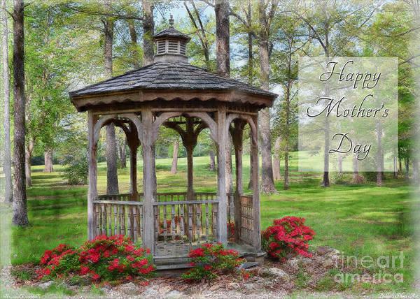 Azalia Photograph - Spring Gazebo Photoart Mother's Day by Debbie Portwood