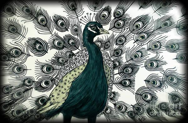 Spring Green Peacock Art Print