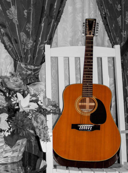 Wall Art - Photograph - Spring Guitar-selective Coloring 2 by Mechala Matthews