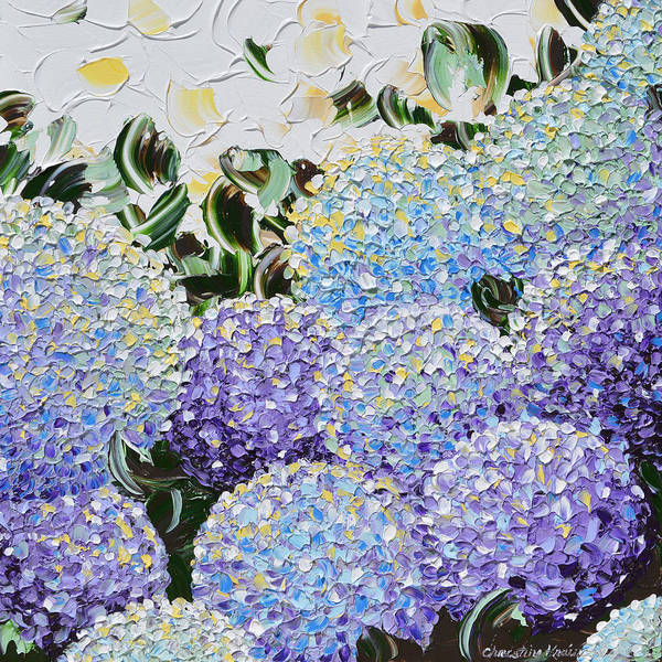 Wall Art - Painting - Spring Hydrangea by Christine Bell