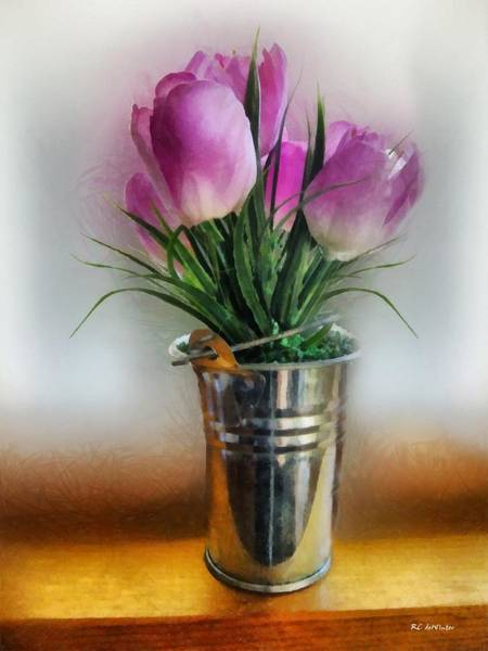 Painting - Spring In A Bucket by RC DeWinter