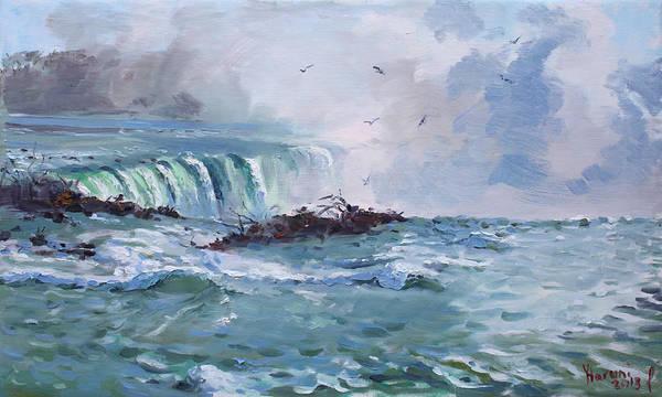 Mist Painting - Spring In Niagara Falls by Ylli Haruni
