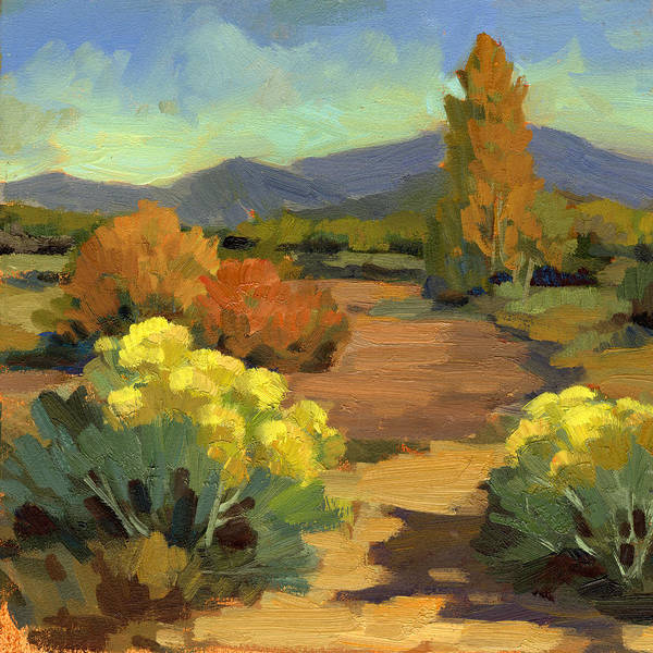 Southwest Wall Art - Painting - Spring In Santa Fe by Diane McClary