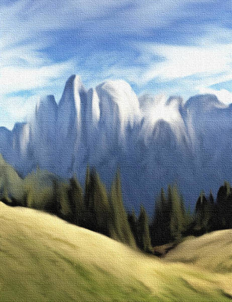 Mixed Media - Spring In The Mountains by Dennis Buckman