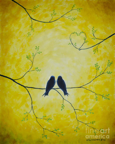 Wall Art - Painting - Spring Is A Time Of Love by Veikko Suikkanen