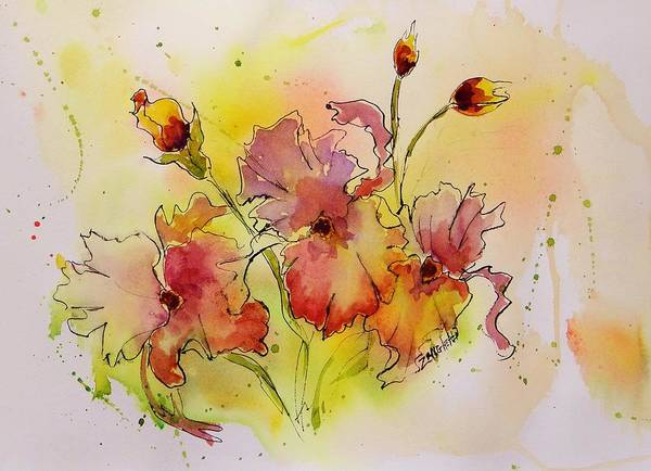 Line Drawing Painting - Spring Is Coming by Laura Lee Zanghetti