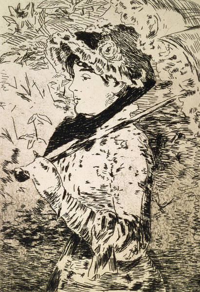 Female Wall Art - Drawing - Spring   Jeanne by Edouard Manet