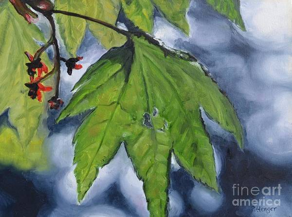 Painting - Spring Leaf by Lori Pittenger