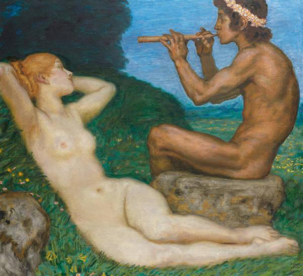 Franz Von Stuck Painting - Spring Love by Franz Von Stuck