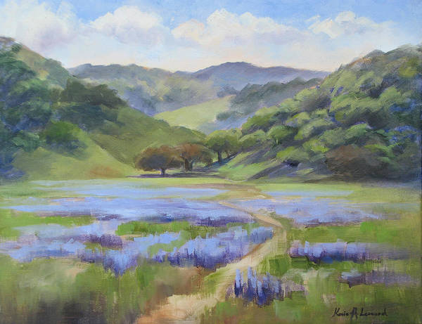 Toros Painting - Spring Lupine by Karin  Leonard