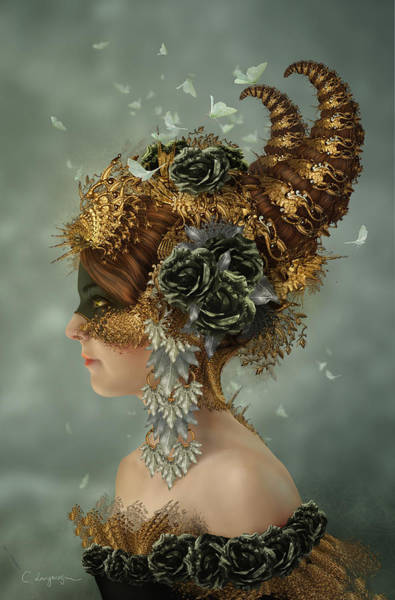 Mask Digital Art - Spring Masquerade by Cassiopeia Art