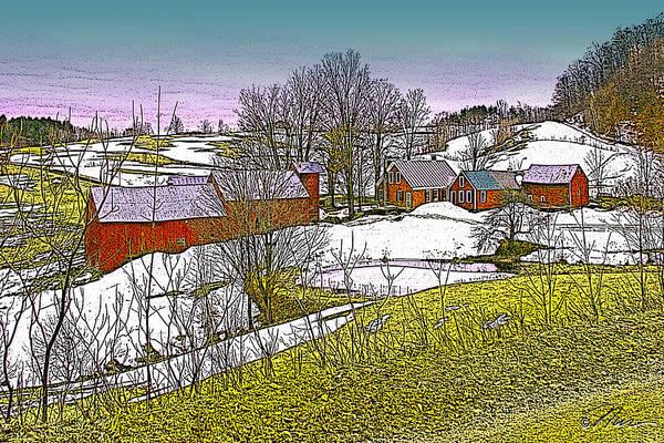 Digital Art - Spring Melt At Jenne Farm by Nancy Griswold