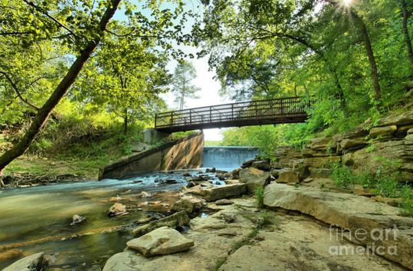 Spillway Photograph - Spring Mill Bridge by Adam Jewell