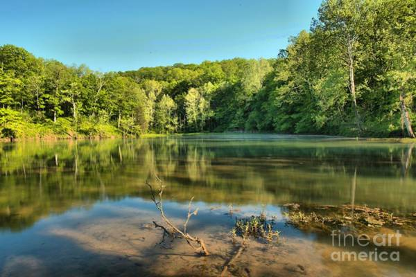 Photograph - Spring Mill Lake by Adam Jewell