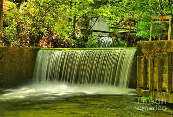Photograph - Spring Mill Spillway by Adam Jewell