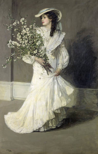 Young Boy Photograph - Spring Oil On Canvas by Sir John Lavery