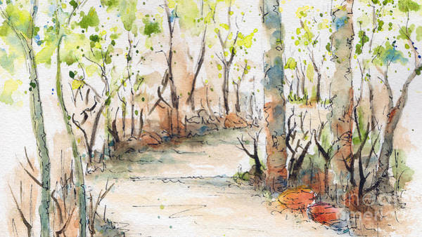 Painting - Spring On The Trail - Horizontal by Pat Katz