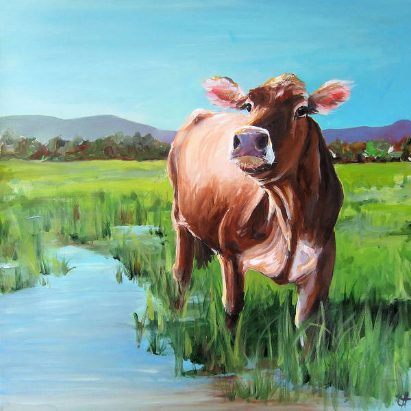 Wall Art - Painting - Spring Pasture by Cari Humphry