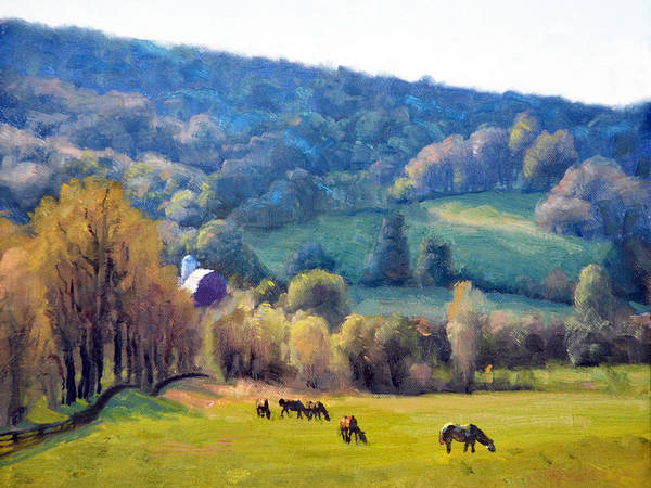 Wall Art - Painting - Spring Pastures by Armand Cabrera