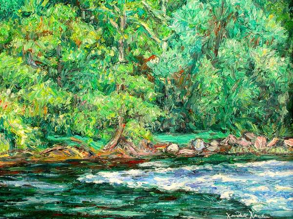 Painting - Spring Rapids On The New River by Kendall Kessler