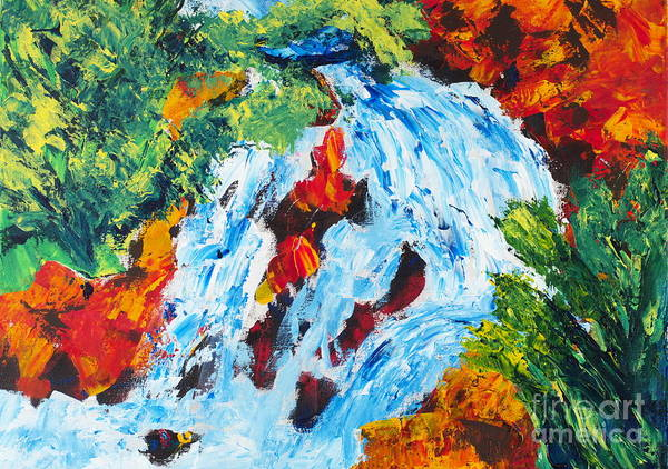 Painting - Spring Run-off 2 by Walt Brodis