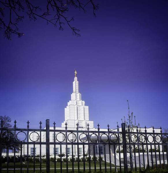 Bonneville County Photograph - Spring Time At The Idaho Falls Temple by Image Takers Photography LLC - Carol Haddon
