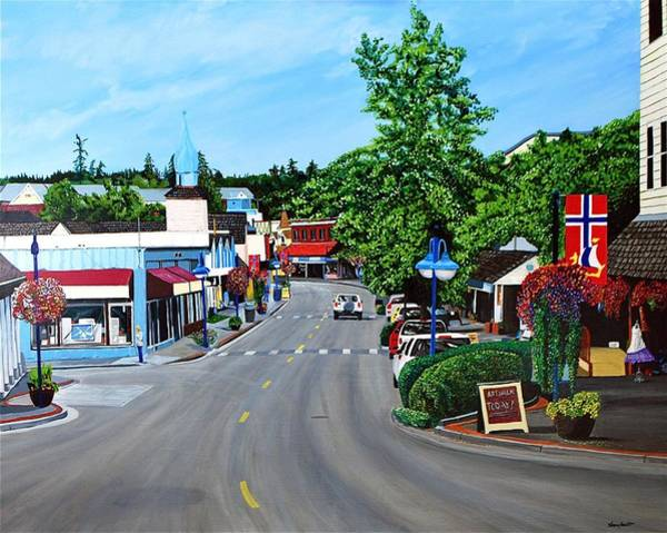 Wall Art - Painting - Spring Time In Poulsbo by Stephen Abbott