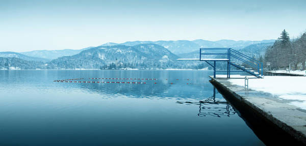 Diving Board Photograph - Springboard At Winter Lake by Picturegarden