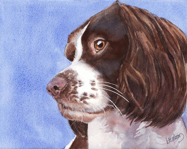Painting - Springer Spaniel Puppy by Greg and Linda Halom