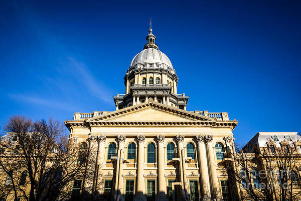 Springfield Illinois Wall Art - Photograph - Springfield Illinois State Capitol Building by Paul Velgos