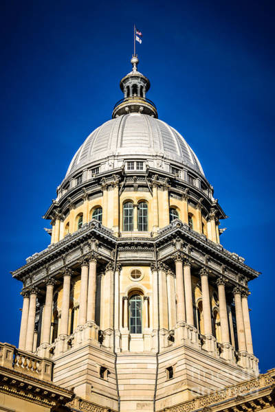 Springfield Illinois Wall Art - Photograph - Springfield Illinois State Capitol Dome by Paul Velgos