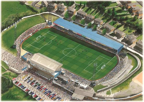 Wall Art - Painting - Springfield Park - Wigan Athletic by Kevin Fletcher