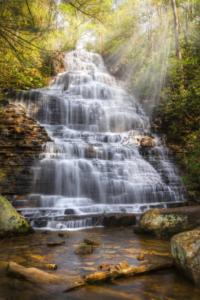 Whitewater Falls Photograph - Springtime At Benton Falls by Debra and Dave Vanderlaan