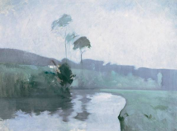 Impressionist Photograph - Springtime, C.1884 Oil On Canvas by John Henry Twachtman
