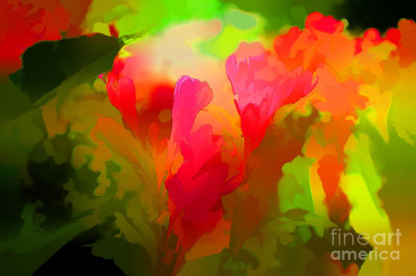 Neon Pink Photograph - Springtime Flowers Abstract by Luther Fine Art