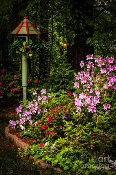 Springtime In The Garden  Art Print