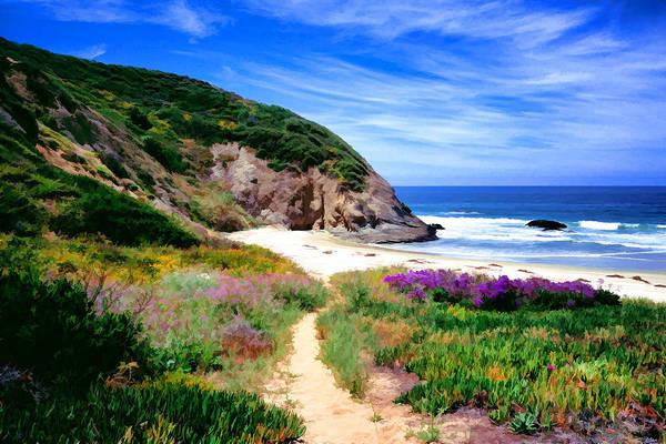Orange County Digital Art - Springtime Trail by Cliff Wassmann