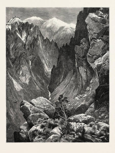 Wall Art - Drawing - Springville Canyon. Thomas Moran February 12 by American School