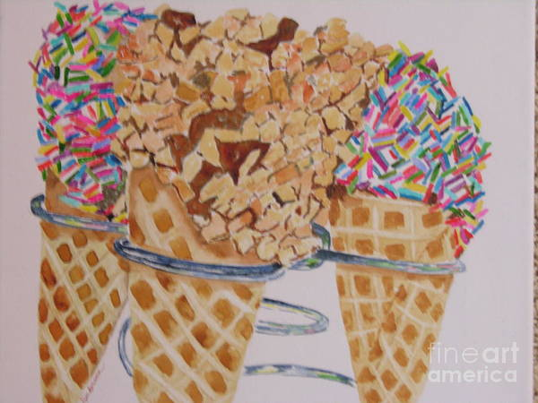 Painting - Sprinkles by Peggy Dickerson