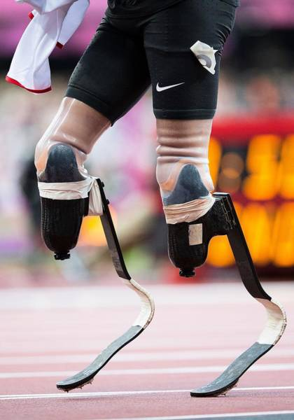 Blade Runner Photograph - Sprinter At Start Of Paralympics 100m by Science Photo Library