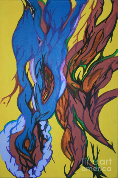 Painting - Sprouting Seed 1 by Mary Mikawoz