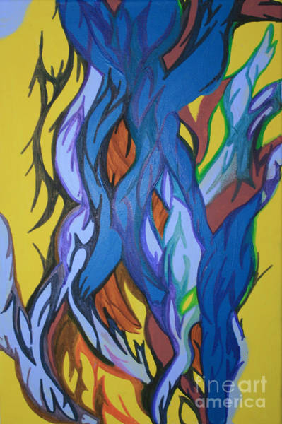 Painting - Sprouting Seed 2 by Mary Mikawoz