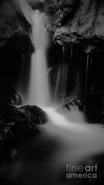 Wall Art - Photograph - Spruce Brook Falls In Black And White by Frank Piercy