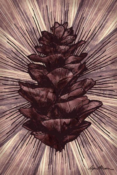 Pitch Digital Art - Spruce I by April Moen