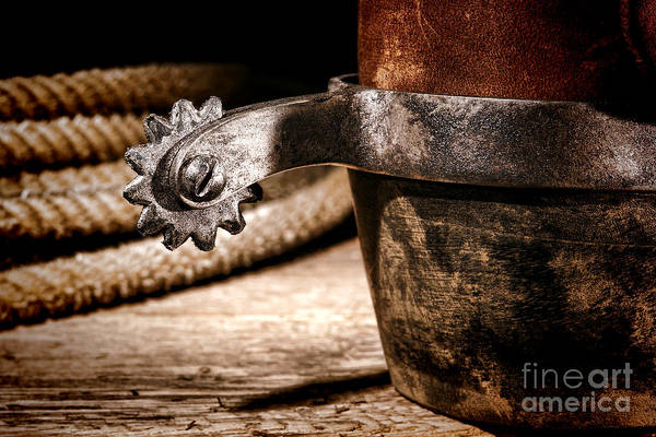 Rodeo Photograph - Spur by Olivier Le Queinec