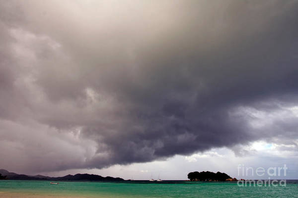Photograph - Squall Over The Bay, The Seychelles by Tim Holt