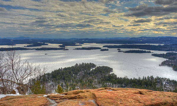 Photograph - Squam Lake In February by Ken Stampfer