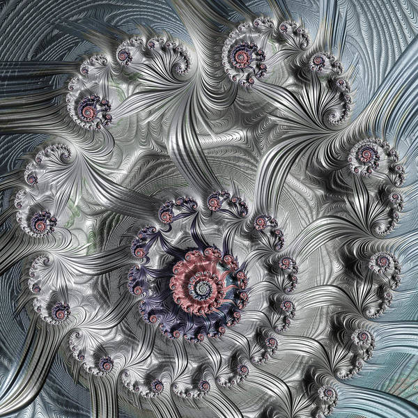 Digital Art - Square Format Abstract Fractal Spiral Art by Matthias Hauser