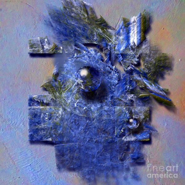 Digital Art - Square In Blue by Alexa Szlavics