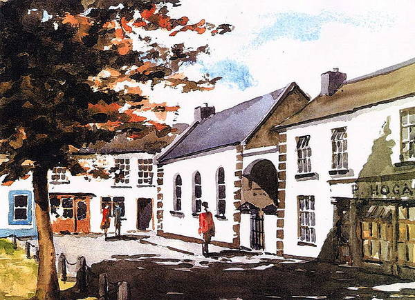 Painting - Square In Graignamanagh   Kilkenny by Val Byrne